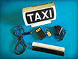 Spampinato Taxi roof sign - 400 ALIANTE RF MAGNETIC SELF POWERED